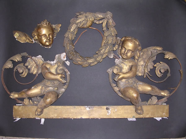 cherubs before restoration